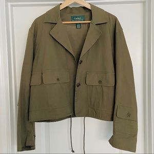 Make Offer Ralph Lauren Cropped Utility Jacket 1X